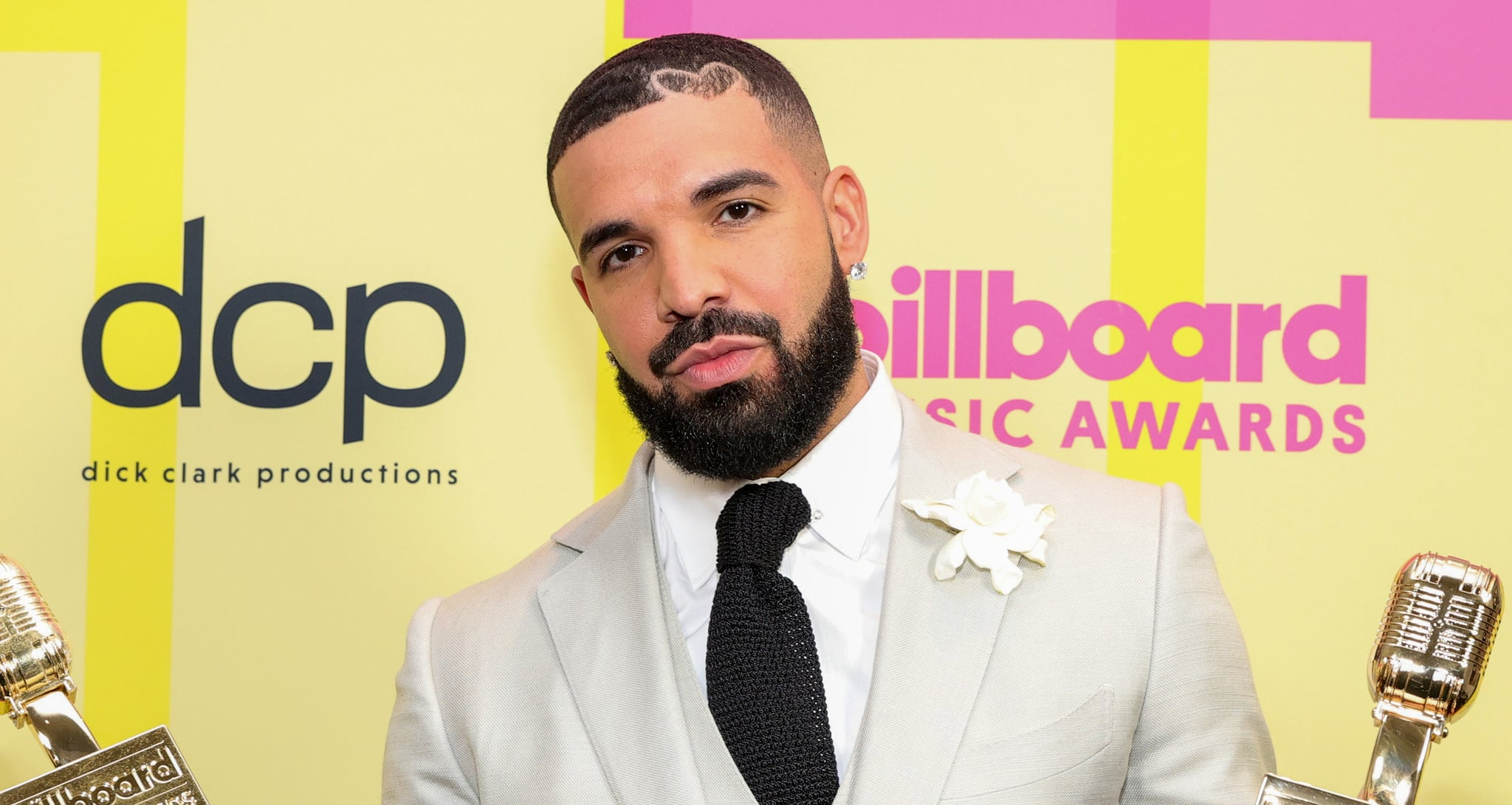 LOS ANGELES, CALIFORNIA - MAY 23: Drake, winner of the Artist of the Decade Award, poses backstage for the 2021 Billboard Music Awards, broadcast on May 23, 2021 at Microsoft Theatre in Los Angeles, California. (Photo by Rich Fury/Getty Images for dcp)