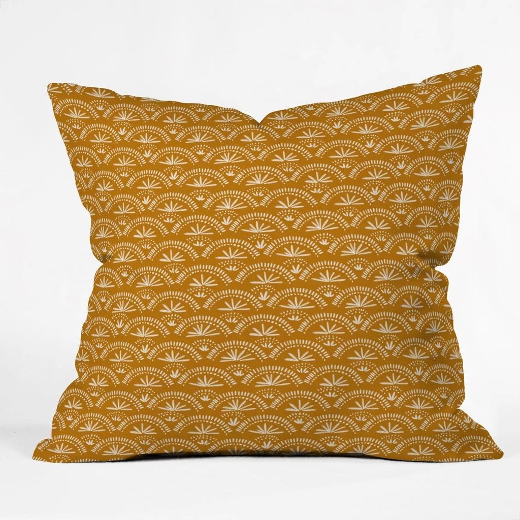 Joy Laforme Moroccan Fan Throw Pillow