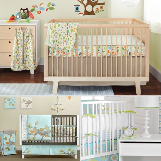 Unisex crib bedding popsugar moms for Baby room decor ideas unisex
