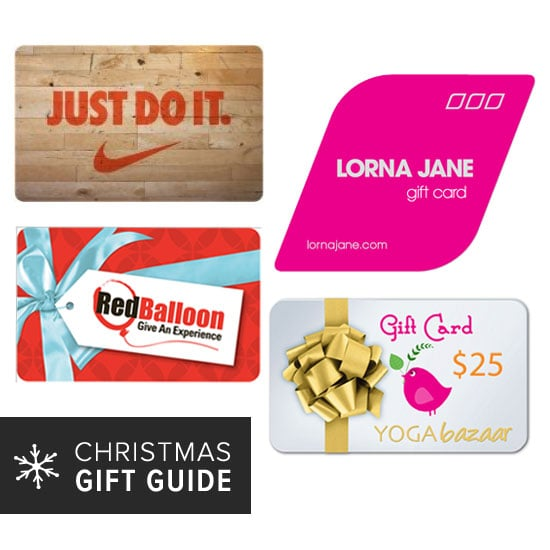 2013 Christmas Gift Guide: Health and Fitness Gift Cards