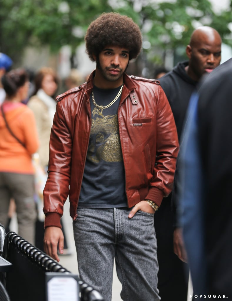 Drake got all kinds of '70s with an afro.