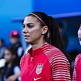 Alex Morgan at the Women's World Cup Game Against Thailand