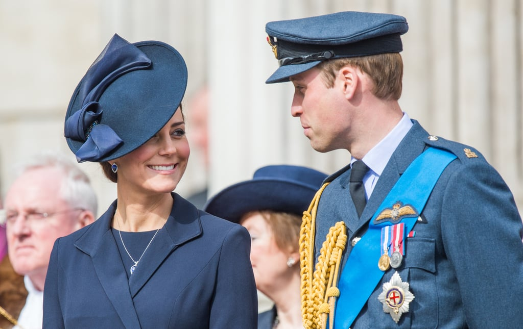 Kate looked at Will lovingly while they tended to royal duties in London in March 2015.