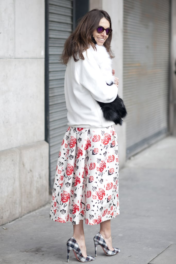 Playfully printed from the waist down.