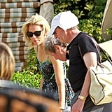 Elizabeth Banks headed back to her Hawaii hotel.