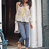 A Floral Trapeze Top Is Just the Top to Go With the Pair of Jeans You Packed