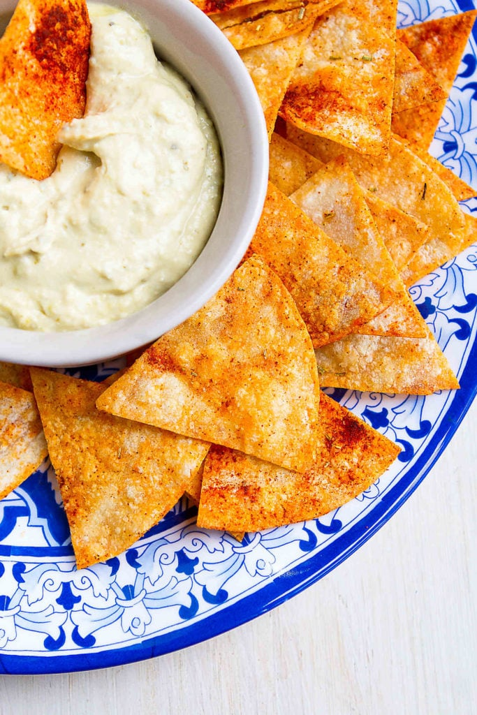 Baked Tortilla Chips with Smoked Paprika & Rosemary