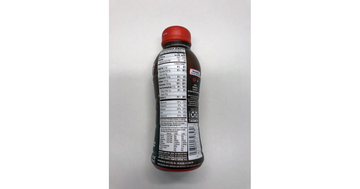 Nutrition Facts For an Entire Bottle of the Snickers ...