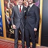 Pictured: Hugh Jackman and director Michael Gracey