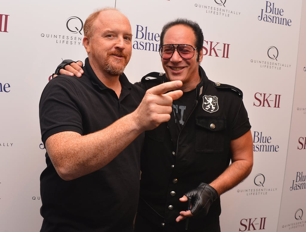 Louis CK joked around with Andrew Dice Clay at the NYC premiere of Blue Jasmine.