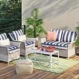 Bar Harbor 4-Piece Patio Conversation Set
