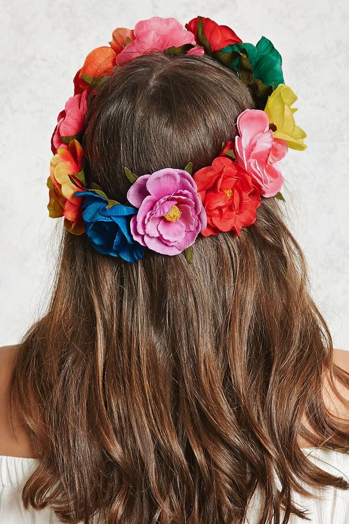 Rainbow Flower Crown ($9)