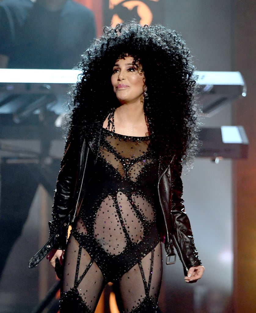 """Cher made a triumphant return to the stage at the Billboard Music Awards in Las Vegas on Sunday night. Not only did the 71-year-old music icon belt out her hits, """"Believe"""" and """"If I Could Turn Back Time,"""" but it marked her first award show performance in over 15 years. Cher — who gave us major flashbacks in two legendary looks — was also honored with the icon award, joining the ranks of past recipients, including Prince, Jennifer Lopez, and Celine Dion, who brought the tears with """"My Heart Will Go On."""" During her acceptance speech, Cher thanked her mom and ex-husband Sonny Bono for believing in her, adding, """"There was really nothing about me that lead anyone to believe that I was going to be special."""" She also credited her success to luck, though we're having a hard time believing that."""