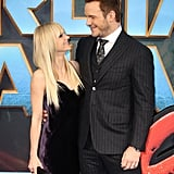 Anna and Chris exchanged loving looks at the UK premiere of Guardians of the Galaxy Vol. 2 in April 2017.