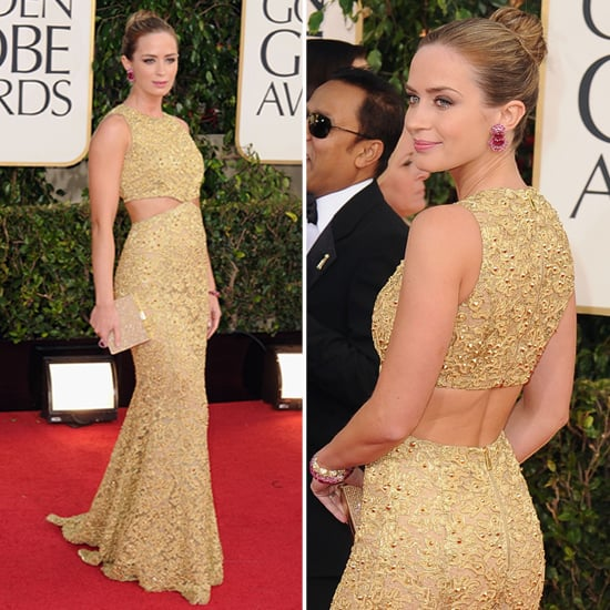 Emily Blunt | Golden Globes Red Carpet Fashion 2013
