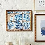 Lisbon Floral Tiles Five Wall Art