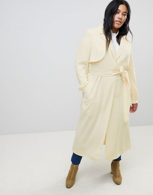 quality design f69b4 ebae0 Asos Design Curve Crepe Duster Mac   Rihanna Trench Dress at ...