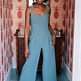 Gal Meets Glam Collection Nicole Square-Neck Jumpsuit