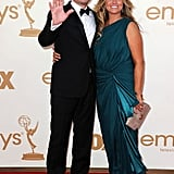 Presenter Jimmy Fallon posed alongside wife, Nancy Juvonen.