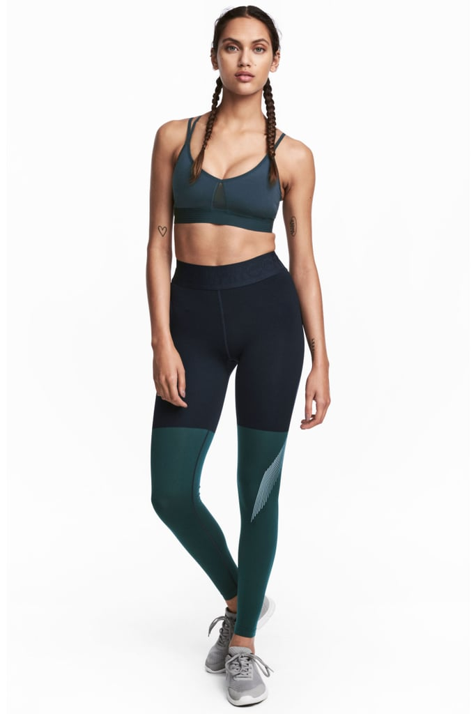 H&M Block Coloured Sports Tights