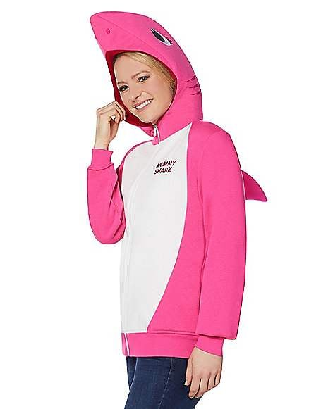 Adult Mommy Shark Costume Hoodie Baby Shark