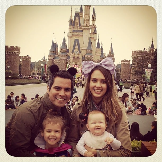 Jessica Alba and Cash Warren shared a family photo from Disneyland Tokyo. Source: Instagram User TheRealJessicaAlba