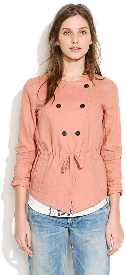The buttons on this rose-hued jacket give a slight nautical nod.  Madewell Lanternwalk Jacket ($145)