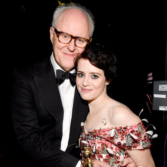 Claire Foy and John Lithgow at the Britannia Awards