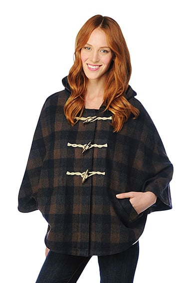 A cozy, Fall-perfect way to throw on plaid, complete with classic toggles on this Splendid Plaid Poncho ($268).