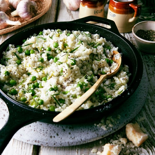 Green Pea & Asparagus Risotto