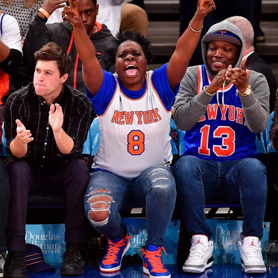 Leslie Jones Cheering at Sports Games Pictures