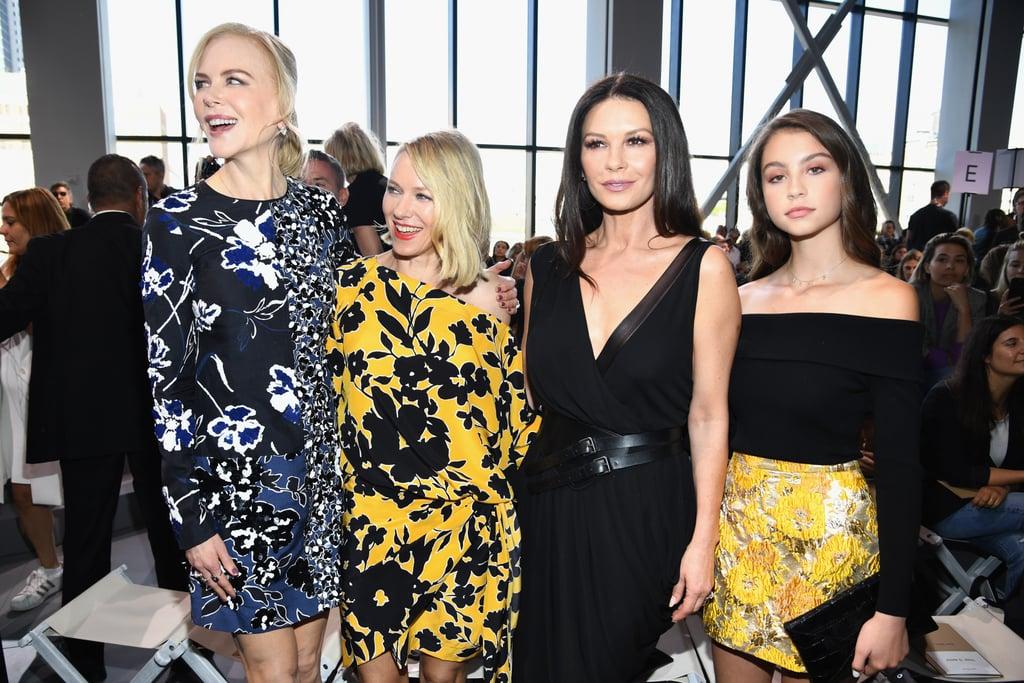 Catherine Zeta-Jones With Daughter at NYFW 2017
