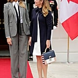 Melania in Ralph Lauren Collection, October