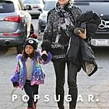 Heidi Klum spent her Saturday ice skating with Lou Samuel in LA.