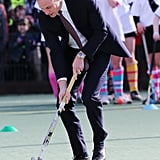 Prince William played field hockey.