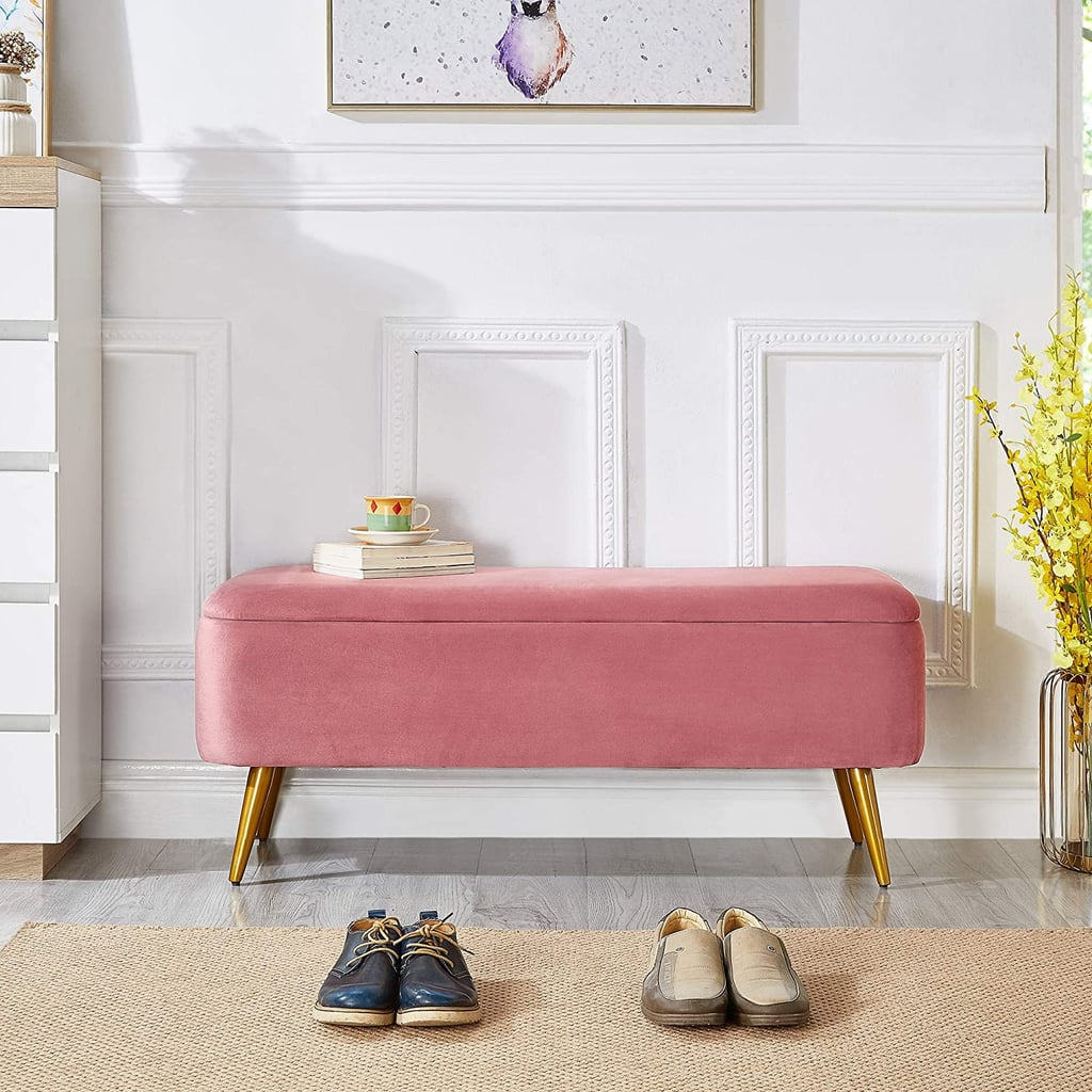 Ball & Cast Upholstered Velvet Storage Bench