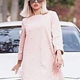Shein Pearl Embellished Tunic Dress