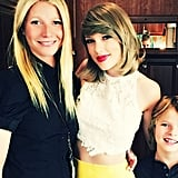 Gwyneth and Moses were all smiles when they posed backstage with Taylor Swift in London in June 2015.