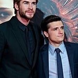 Liam Hemsworth and Josh Hutcherson posed together on the red carpet.
