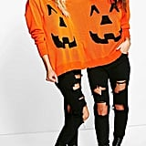 Boohoo Esther Halloween Pumpkin Twin Jumper