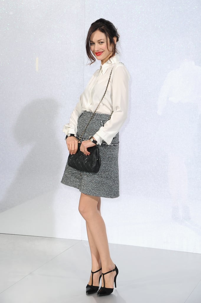 Olga Kurylenko at the Chanel Paris Haute Couture show.