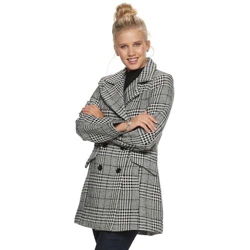Iz Byer Double Breasted Menswear Coat Trendy Winter