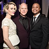 Pictured: Ryan Murphy, Cuba Gooding Jr., and Sarah Paulson