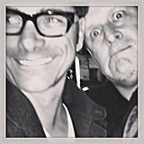 """John: """"funny pic of @davecoulier and I — caught his stand up in Vancouver @cooler111"""""""