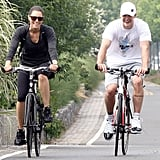 They rode bikes around NYC side by side in July 2010.
