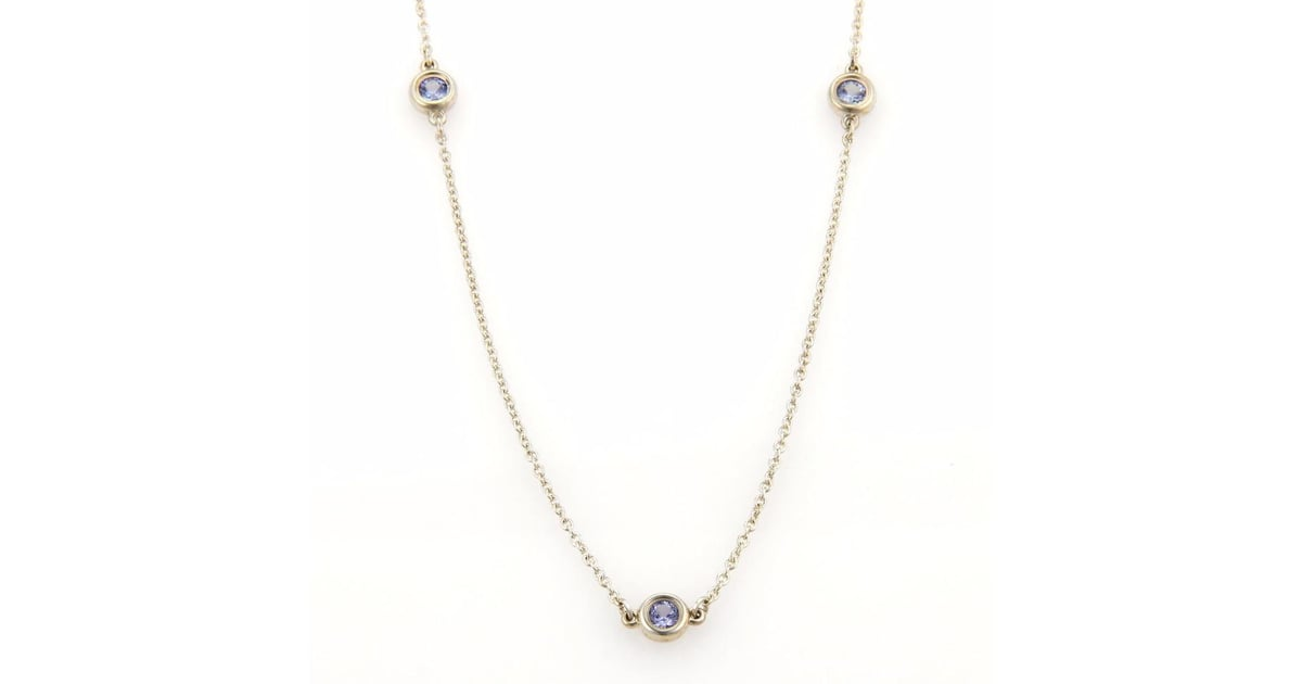 fe1f1774d Our Pick: Tiffany & Co. Elsa Peretti Tanzanite By The Yard Sterling Silver  Necklace | Kate Middleton Favorite Jewelry Brands | POPSUGAR Fashion Photo  17