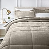 Amazon Basics Ultrasoft Micromink Sherpa Comforter Bed Set