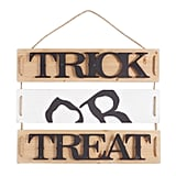 Trick or Treat Planked Halloween Decor