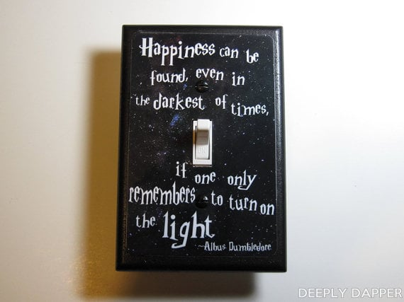 Dumbledore Quote Light-Switch Plate ($10)