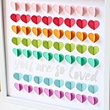 Rainbow 3D Hearts Guest Book Alternative